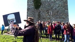 "Visite sur les lieux de tournage de ""Game of thrones"" en Irlande du Nord, le 10 avril 2019. (BENJAMIN ILLY / FRANCE-INFO)"