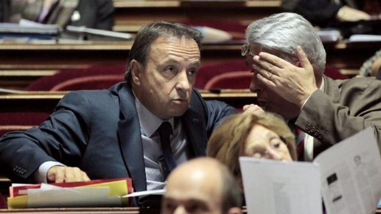 Jean-Pierre Bel participe à un débat au Sénat à Paris, le 22 octobre 2010. (AFP - Jacques Demarthon)