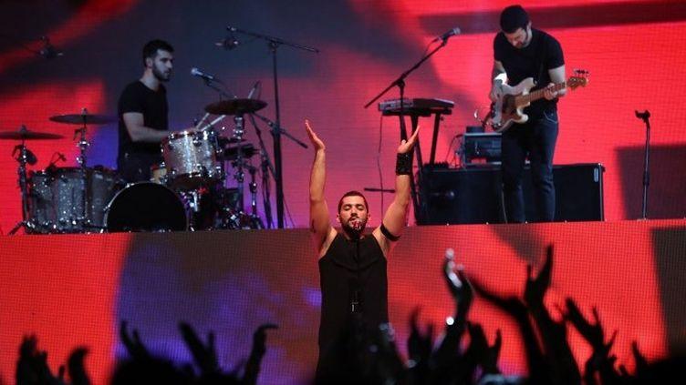 Le groupe libanais Mashrou' Leila (2017)  (ais KARIM SAHIB / AFP)