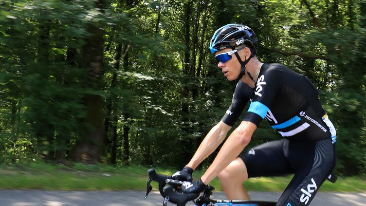 Christopher Froome dans ses oeuvres (KENZO TRIBOUILLARD / AFP)