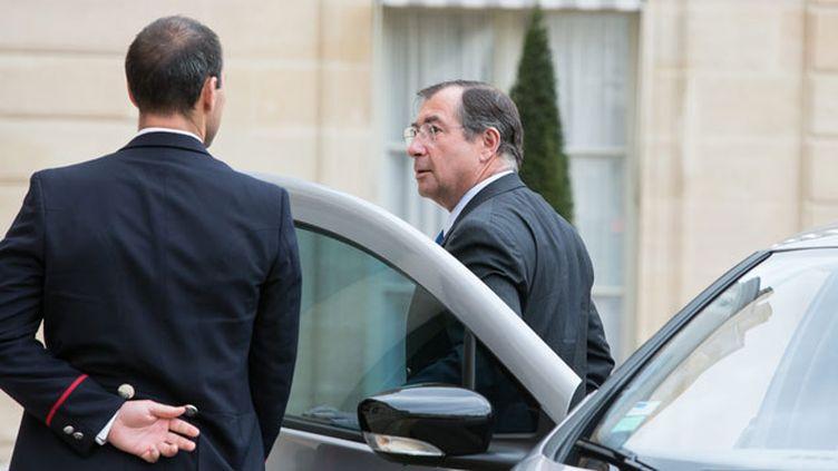 (Le patron de Bouygues,Martin Bouygues, a été reçu à l'Elysée  © maxppp)