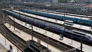 La gare Saint-Charles à Marseille, un jour de grève des cheminots, le 23 mai 2018. (GERARD BOTTINO / CROWDSPARK / AFP)