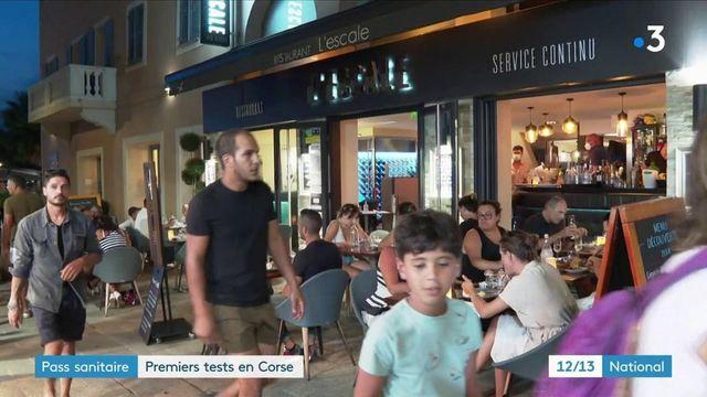 Haute-Corse : premiers tests du pass sanitaire dans les restaurants