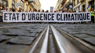 Manifestation pour le climat à Bordeaux, le 13 octobre 2018. (NICOLAS TUCAT / AFP)