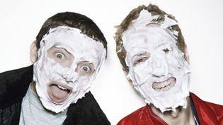 """Guy-Man (Gauche) et Thomas de Daft Punk à l'époque de la sortie de """"Homework"""" sorti en janvier 1997.  (Photographe inconnu)"""