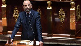 Le Premier ministre, Edouard Philippe, lors de son discours de politique générale devant l'Assemblée nationale, le 12 juin 2019. (ALAIN JOCARD / AFP)