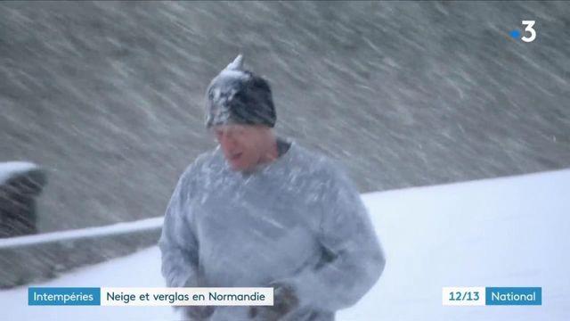 Intempérie : de la neige et du verglas en Normandie