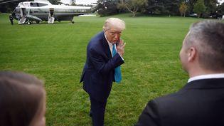 Le président américain Donald Trump, le 26 septembre 2020 à Washington (Etats-Unis). (OLIVIER DOULIERY / AFP)