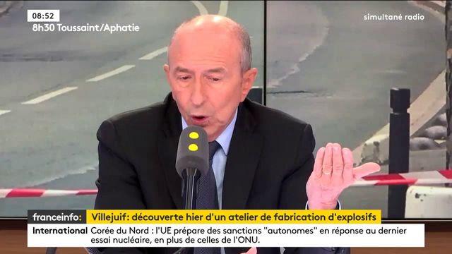 """#Villejuif """"Les deux personnes interpellées fabriquaient du TATP"""" explique Collomb,"""
