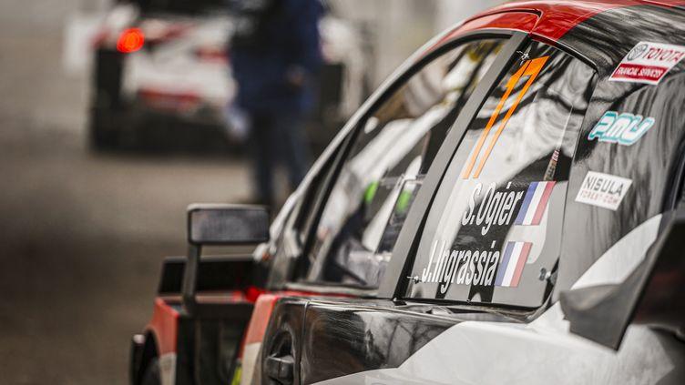 Sébastien Ogier (Toyota) au départ du rallye de Monza (FRANCOIS FLAMAND / DPPI)