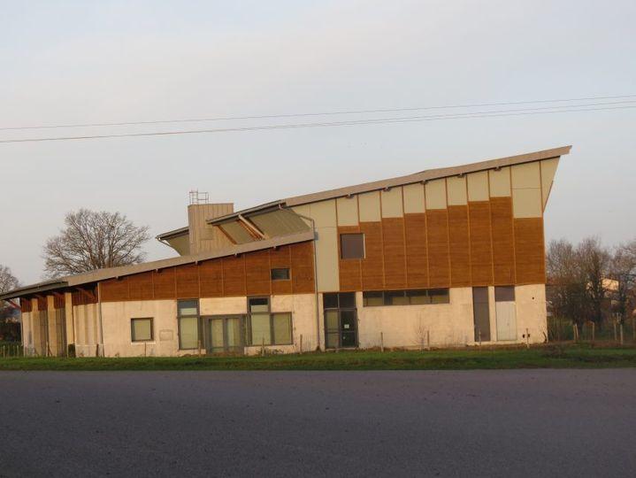 La salle polyvalente de La Remaudière (Loire-Atlantique) encore en chantier. (COLLECTION PRIVEE)