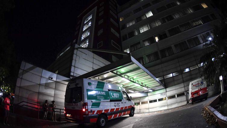 L'hôpital où est mort le premier malade du coronavirus en Argentine, photographié le 7 mars 2020 à Buenos Aires. (ALEJANDRO SANTA CRUZ / TELAM / AFP)