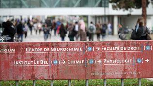 Sur le campus central de l'université de Strasbourg UDS, en septembre 2017. (MAXPPP)