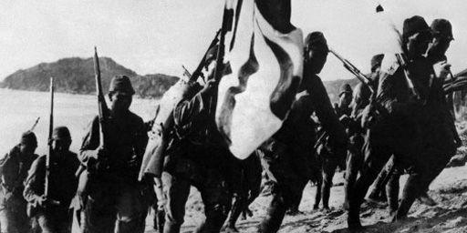 Troupes japonaises en 1938 pendant la guerre entre la Chine et le Japon. (AFP - Japan Photo Library)