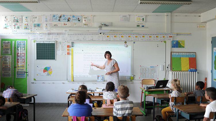 Une école des Landes classée en REP, où les classes de CP sont désormais en effectif réduit. (DEQUIER LO?C / MAXPPP)