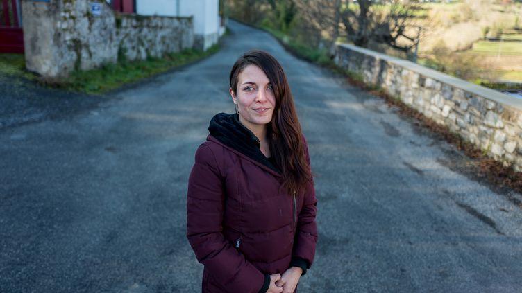 Axelle Richardson, présidente de l'association des saisonniers de Lourdes et de la Vallée, le 23 novembre 2020. (FRED SCHEIBER / AFP)