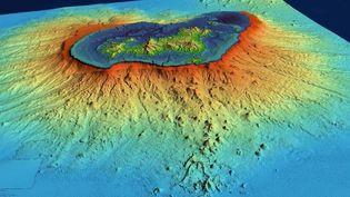 Les recherches menées après l'observation de nombreux séismes au large de Mayotte ont permis de découvrir un volcan sous-marin de 800 m de hauteur. (MISSION MAYOBS)