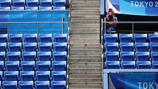 Le parc de tennis d'Ariake, le 28 juillet 2021. (HIROTO SEKIGUCHI / YOMIURI / AFP)
