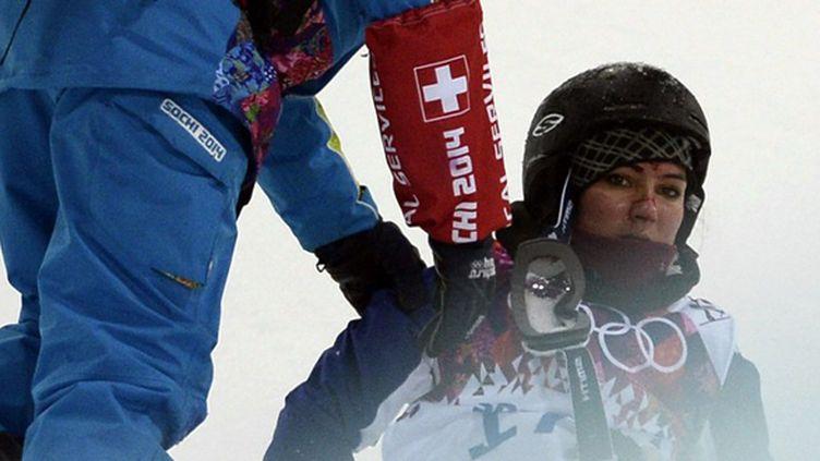 Anaïs Caradeux forfait pour la finale du half-pipe (FRANCK FIFE / AFP)