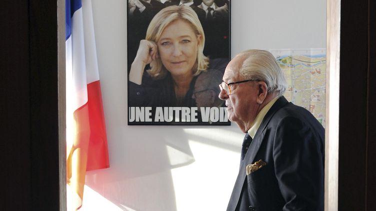Jean-Marie Le Pen le 12 janvier 2014 à Agen (Lot-et-Garonne). (MEHDI FEDOUACH / AFP)