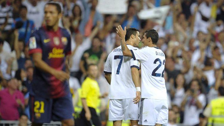 Ronaldo et Di Maria (Real Madrid) ont fait mal au Barça (PEDRO ARMESTRE / AFP)