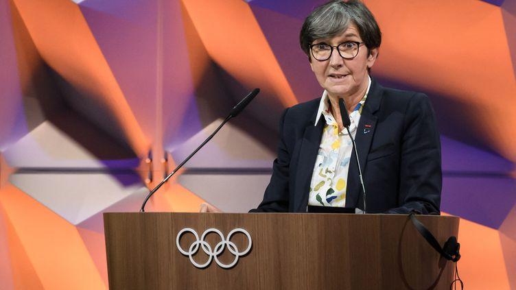 Valérie Fourneyron,présidente de l'Autorité de contrôle indépendante qui a été mise en place par l'Agence mondiale anti-dopage, le 10 janvier 2020. (FABRICE COFFRINI / AFP)