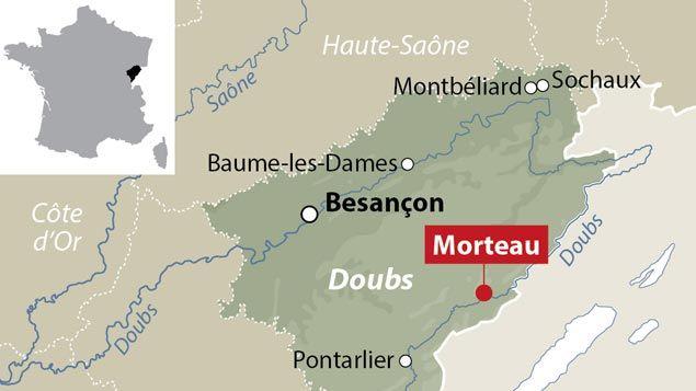 (L'accident a eu lieu dans le Doubs entre Pontarlier et Morteau © IDE)