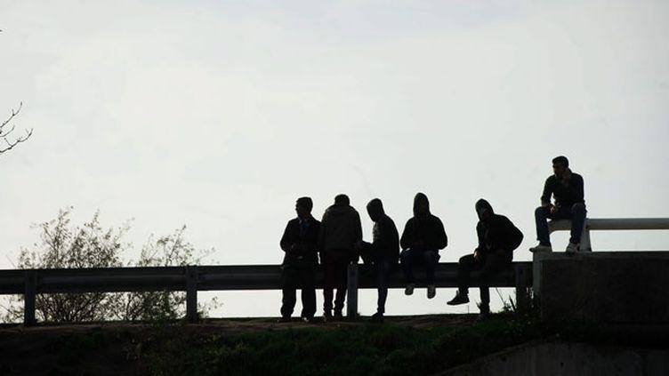 """(La ville de Calais a connu une troisième nuit consécutive de violences aux abord de la """"jungle"""" © MaxPPP)"""