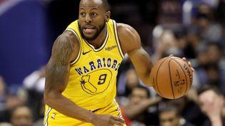 """Le basketteur Andre Iguodala des """"Golden States Warriors"""" vient d'intégrer le conseil d'administration de l'entreprise nigériane Jumia (photo du 24 janvier 2019). (ROB CARR / GETTY IMAGES NORTH AMERICA / AFP)"""