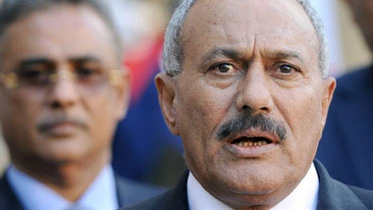 Le président yéménite, Ali Abdallah Saleh, à l'Elysée, à Paris, le 12 octobre 2010. (AFP)