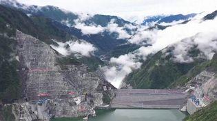 La Chine a inauguré le plus grand barrage du monde dans la province du Sichuan. (CAPTURE ECRAN FRANCE 3)