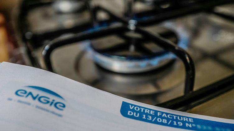Une plaque de cuisson fonctionnant au gaz, le 3 octobre 2019, en France. (MAXPPP)