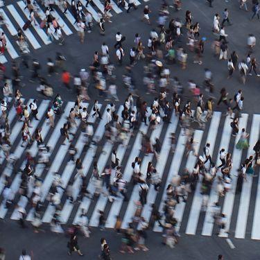 Un carrefourtrès fréquenté du quartier de Shibuya à Tokyo (Japon), le 17 août 2018. (KAZUHIRO NOGI / AFP)