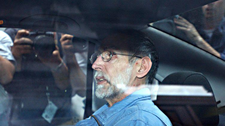 Le tueur en série Michel Fourniret, le 1er juilet 2004 à Dinant, en Belgique. (BRUNO ARNOLD / BELGA)