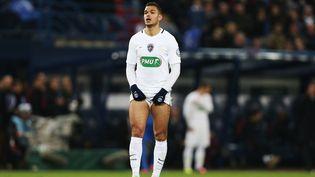 Hatem Ben Arfa, le 5 avril 2017, lors d'un match de coupe de France face à Avranches (Manche). (CHARLY TRIBALLEAU / AFP)