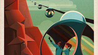L'un des posters martiens dévoilés par SpaceX, le 15 mai 2015. (SPACEX)