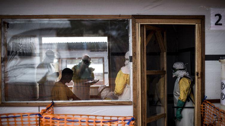Un centre de traitement à Bunia, en République démocratique du Congo, le 10 novembre 2018. (JOHN WESSELS / AFP)