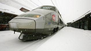 Un TGV en gare de Modane (Savoie), le 21 mars 2008. (GIUSEPPE CACACE / AFP)
