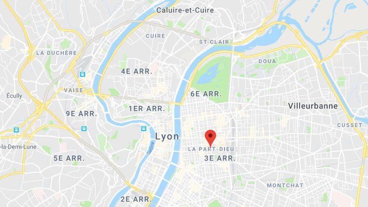 Le quartierde la Part-Dieu, à Lyon. (CAPTURE D'ECRAN GOOGLE MAPS)