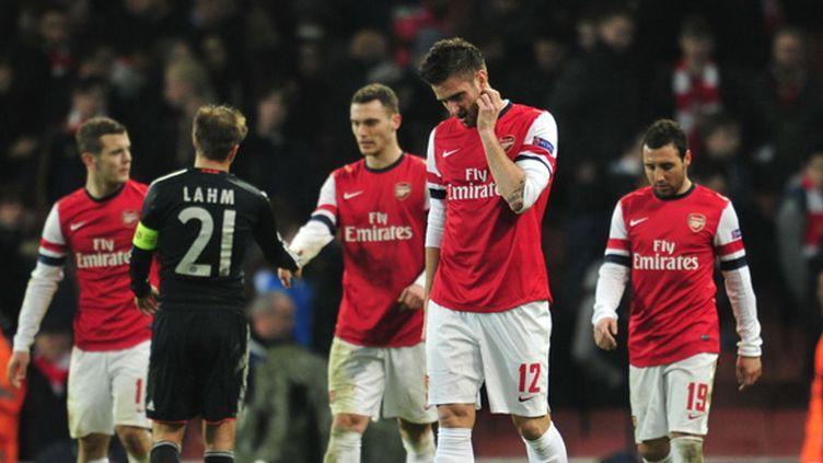 La saison dernière, le Bayern Munich avait déjà triomphé d'Arsenal en 8e de finale de la ligue des champions.  (GLYN KIRK / AFP)