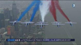 La Patrouille de France survole Manhattan. (FRANCE 3)