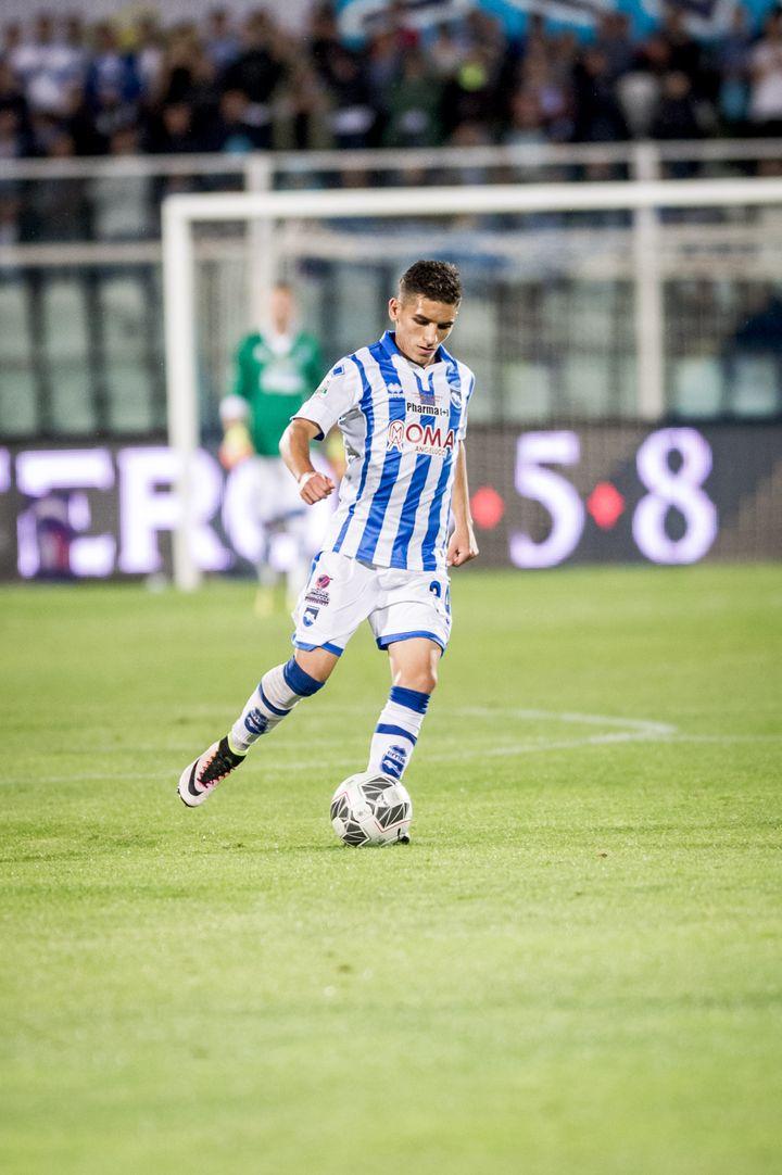 Lucas Torreira avec Pescara. (ADAMO DI LORETO / NURPHOTO)