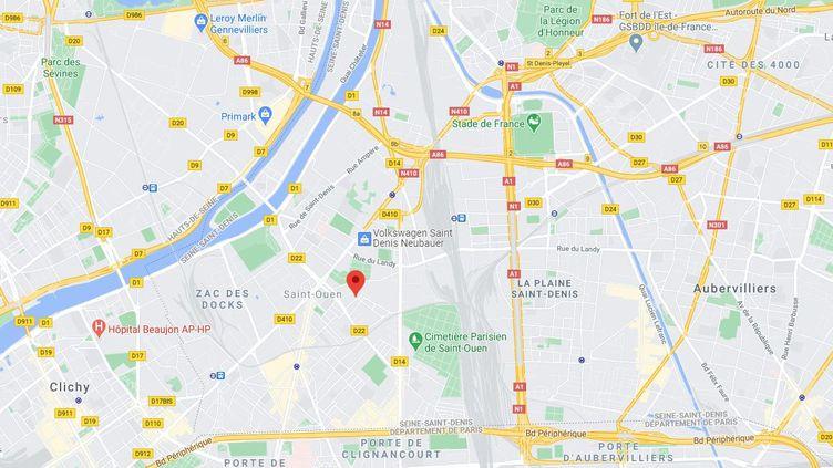 Un jeune homme a été tué à coups de batte de base-ball dansla cité Cordon, à Saint-Ouen (Seine-Saint-Denis),le 3 janvier 2020. (GOOGLE MAPS)