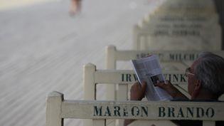Les planches de Deauville, le calme avant le déferlement de stars pour le festival  (CHARLY TRIBALLEAU / AFP)
