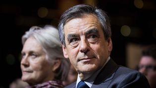 """François Fillon a assuré, jeudi 26 janvier, qu'""""il n'y pas le moindre doute"""" sur l'emploi """"légal"""", """"réel""""de sa femme comme collaboratrice parlementaire. (MAXPPP)"""