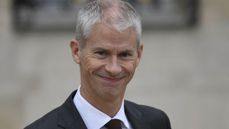 Franck Riester, à la sortie d'un conseil des ministres. (ERIC FEFERBERG / AFP)