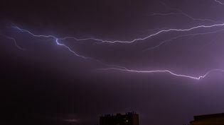 """Ces orages pourraient être """"localement violents, avec des chutes de grêle, de fortes rafales de vent"""", indique Météo France. (CITIZENSIDE / MAXIME REYNI / AFP)"""