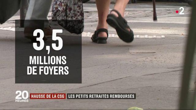 Hausse de la CSG : les petits retraités remboursés