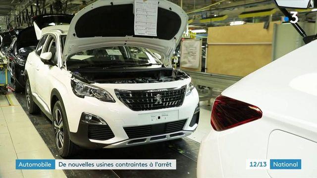 Automobile : de nouvelles usines contraintes à l'arrêt