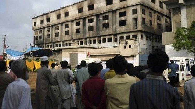 L'atelier de confection de Karachi où 300 personnes ont péri (AFP)